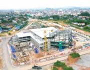 Hình Ảnh Thi Công  tại Công Trình Trung Tâm Thương Mại và Siêu Thị GO! Thái Nguyên tháng 10/2020