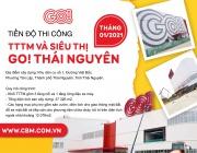 Hình Ảnh Thi Công  tại Công Trình Trung Tâm Thương Mại và Siêu Thị GO! Thái Nguyên tháng 01/2021